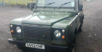 Land Rover Defender 90 1987 2.5 TD Formerly the property of Brad Pitt USA Eligible #321 2